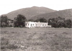Monika's home, also a community meeting place. Photo taken in 1983.